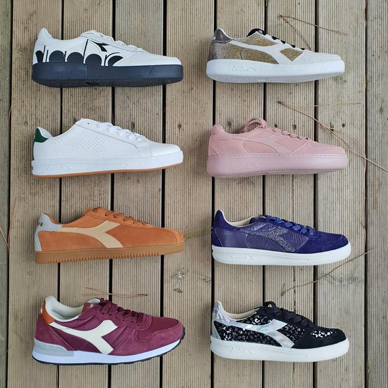 collezione di scarpe di vari colori della Diadora per uomo, donna