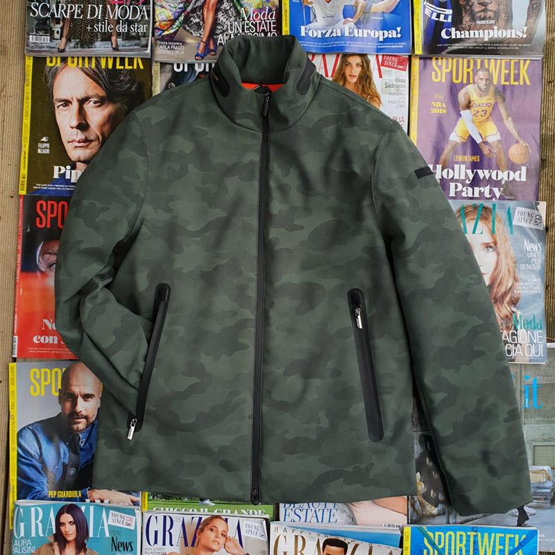 giaccone mimetico da uomo, marchio RRD