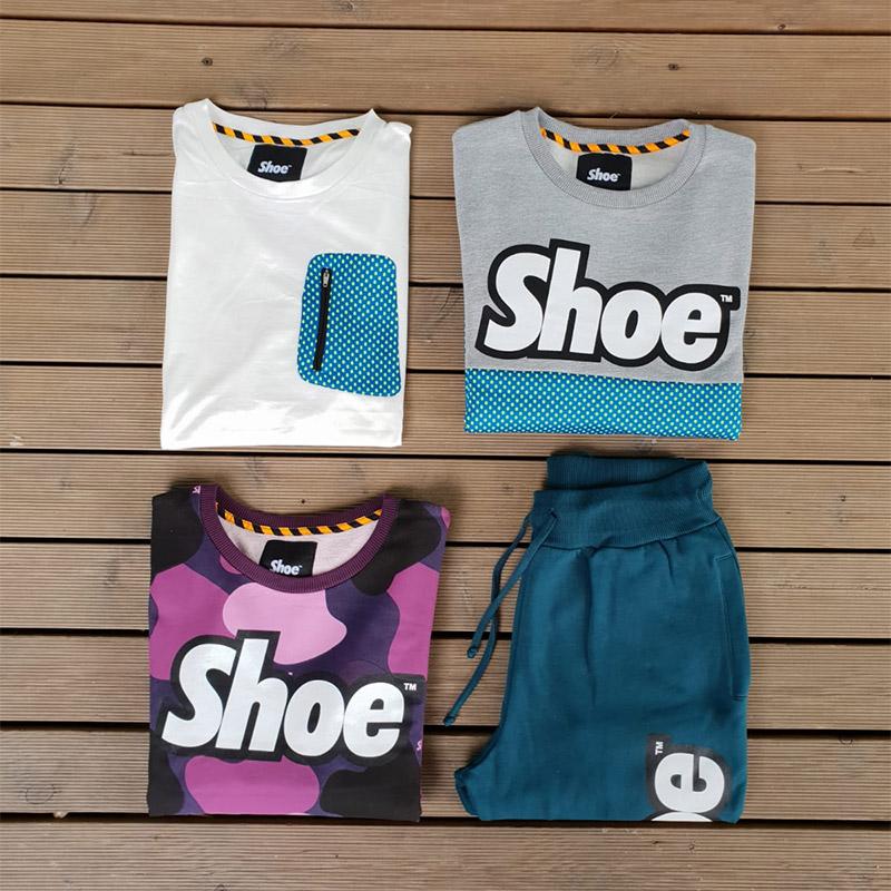 outfit shoeshine composto da felpa, pantalone, t-shirt da uomo in vendita a unionmoda outlet