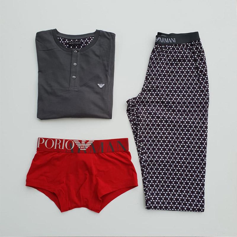 outfit intimo uomo, mutande e pigiama colorati